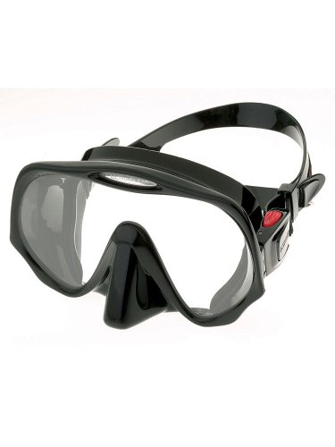 Atomic Aquatics Scuba Diving Frameless Mask, All Black, Medium Fit - Medium Fit Mask
