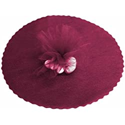"Tableclothsfactory 5pcs of 25pcs/ pk 12"" Tulle Circles Wedding Party Baby Shower Favors - Burgundy"