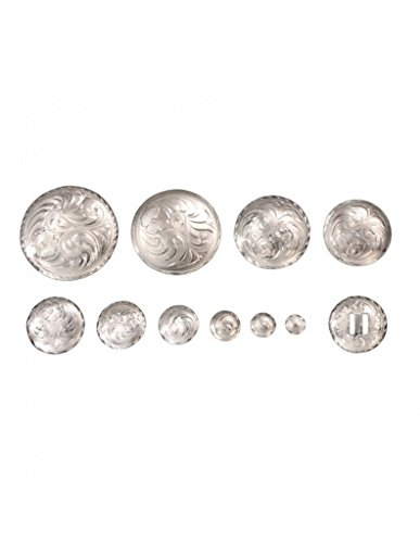 Royal King Bright Cut Edge Low Dome Chicago Screw Concho - 5/8