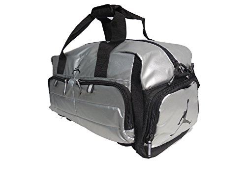 Nike AIR JORDAN JUMPMAN All World Sport Duffel Bag - Silver Black  (9A12639-250 ) 29eb86943ab41