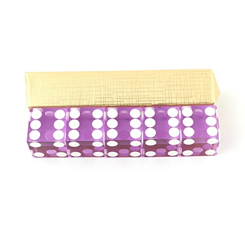 IDS Purple Casino Craps Dice 19mm Grade Set of 5 Razor Edge Stick by IDS