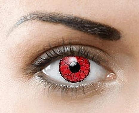 Phantasy Eyes ®Lentilles de Contact de couleur - Halloween Crazy Lens (RED  RAGE  6896d1300669