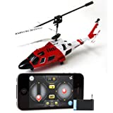 iPhone iPad Controlled Syma S111 -3 Channel RC Helicopter iCopter Mini Palm Size US Coast Guard With Remote!