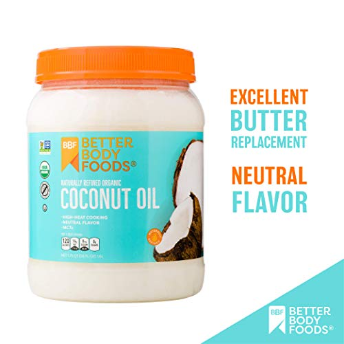 BetterBody Foods Organic Naturally Refined Coconut Oil with Neutral Flavor and Aroma, 56 Ounce 3