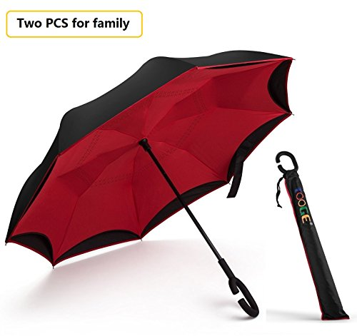 Inverted-Umbrella-by-Tooge-Cars-Reverse-Umbrella-for-Wind-and-Rain-Protection-Double-Layer-and-Self-Standing-with-C-Shaped-Handle-and-Umbrella-Cap