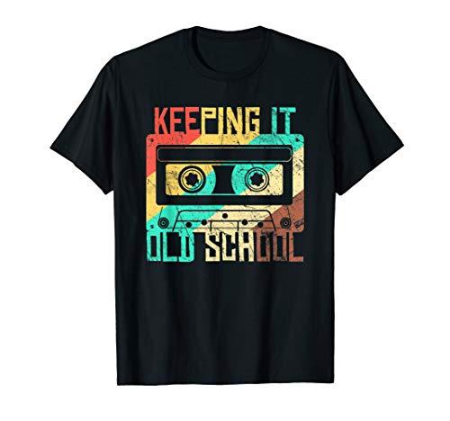 Cassette Tape Music T-Shirt Retro 80s Keeping it Old School
