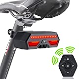 OPOLEMIN Wireless Remote Bike Taillights - Bicycle Tail Light with USB Rechargeable - Urban Bike or Mountain MTB Bike Turn Signal Lights with Water Resist IPX4