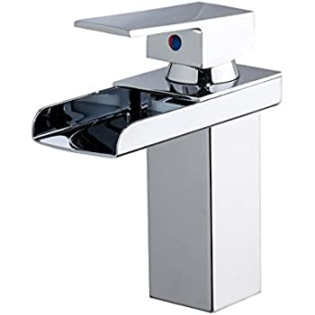 Chrome Waterfall Bathroom Faucet Sink Vessel Lavatory ...