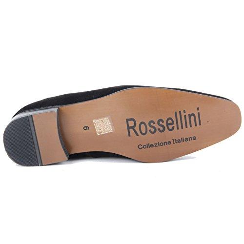 caballero ante Calzado cuero de Calzado con forrado Rossellini gruesas para de de caballero de negro de fiesta y hombre costuras holgadas qHdOnOwESx