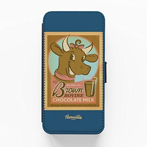 Brown Bovine Hochwertige PU-Lederimitat Hülle, Schutzhülle Hardcover Flip Case für iPhone 6 Plus / 6 Plus vom Anderson Design Group + wird mit KOSTENLOSER klarer Displayschutzfolie geliefert