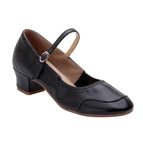 1f2fd755f uirend Modern Latin Tango Dance Shoes Women - Ladies Low Block Heel Shoes  Dancewear Leather Shoe