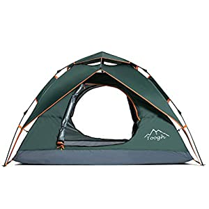 Toogh Camping Tent 2-3 Person – Waterproof Dome Tents Automatic Pop Up