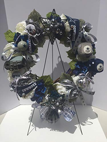 Wreath Nfl (NFL PRIDE - DALLAS COWBOYS - LARGE SIZE - COLLECTORS WREATH - MAN CAVE - SPORTS ENTHUSIAST GIFT - SPORTS BAR/RESTAURANT - BUSINESS SPORTS PRIDE)