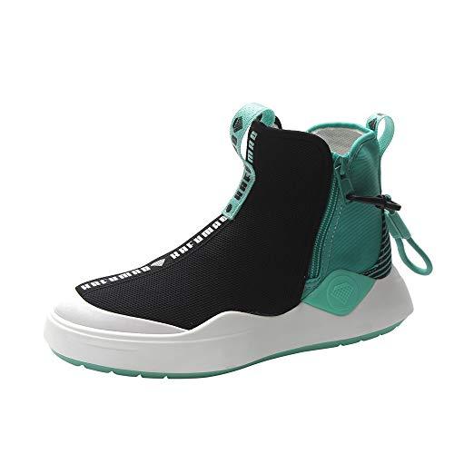 Soft Weight Sneakers Fitness Outdoor Memory Side Foam Sport Green Zipper Running top Flat Sports Shoes Light High Women qwn7RzIx