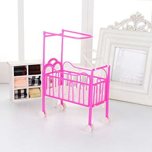 Steellwingsf Lovely Mini Furniture Pulley Baby Beds Crib Play House for...