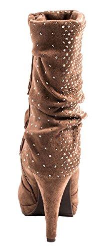 Elara - botas clásicas Mujer caqui