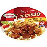 compleat food container - Hormel: Beef Steak Tips W/Mashed Potatoes & Gravy Compleats Microwave Bowls, 10 oz (Pack of 5)