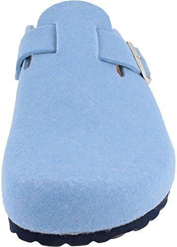 Femme bleu pour clair BONOVA Mules 74wWZ