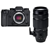 Fujifilm X-H1 Mirrorless Camera Body, Black - With Fujifilm XF 100-400mm F4.5-5.6 R LM OIS WR Lens