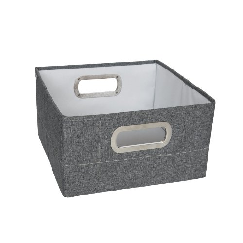 (JJ Cole Heather Storage Box, Slate,)
