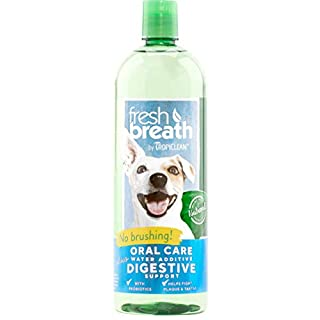 Fresh Breath by TropiClean Oral Care Water Additive Plus Digestive Support for Pets, 33.8oz - Made in USA