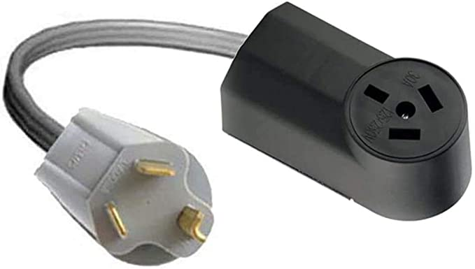 Dryer Y Adapter 10-30P Male 3-Pin Plug To Dual 10-30R Receptacles 2-Way Splitter