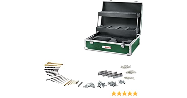 Bosch 1600 a0144l DIY Herramientas con 241 de accesorios para taladrar con plantilla para Tool, Cargador, batería, 242 Pieza: Amazon.es: Bricolaje y herramientas