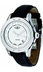 Gio Monaco Men's 776-F Estasi Automatic White Dial Black Leather Date Watch