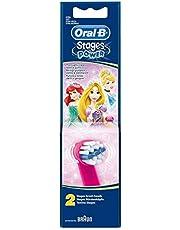 Braun Oral-B Stages Power Kids Aufsteckbuersten Princess 2'li paket fırça başlıkları çocuk EB10–2K Prenses Cinderella