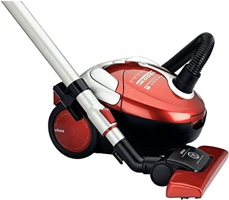 Ufesa AC4818 - Aspirador Con Bolsa (Power S, 230-400 V, 1600 W, 1600 W, 2.5 L, 280 x 380 x 240 mm), color negro y rojo: Amazon.es: Hogar