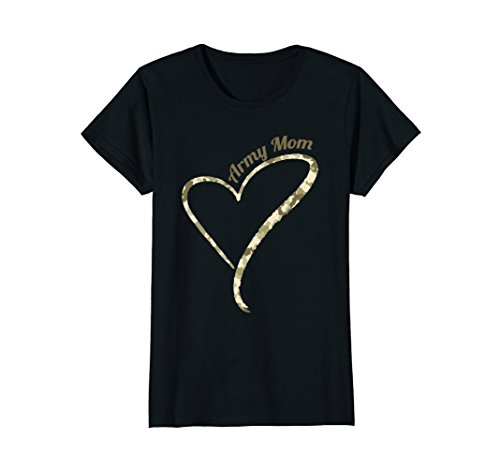 Army Mom Womens T-shirt (Womens Proud Army Mom T Shirt Military Mother Camouflage Shirt Medium Black)
