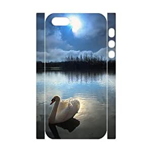 ANCASE Cell phone Protection Cover 3D Case Swan For Iphone 5,5S