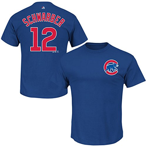 - Majestic Chicago Cubs Kyle Schwarber #12 MLB Men's Official Name & Number Player T-Shirt