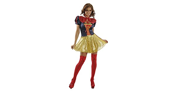 b89db1c9520 Amazon.com  Sexy Adult Halloween Theme Cosplay Rave Party Disney Princess  Fairytale Storybook Snow White Costume Women  Clothing