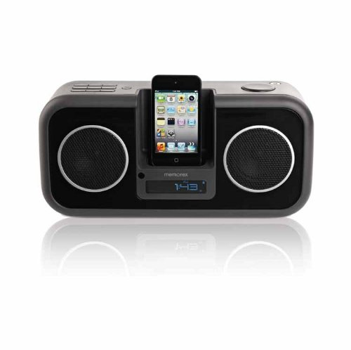 Memorex MA9310BK Stereo Speaker System for iPod and iPhone, Black