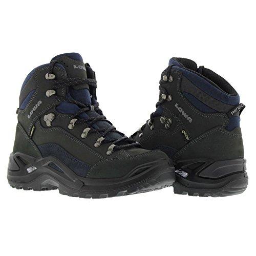 Lowa Mens Renegade Gore-Tex Mid Grey Nubuck Boots 42 EU