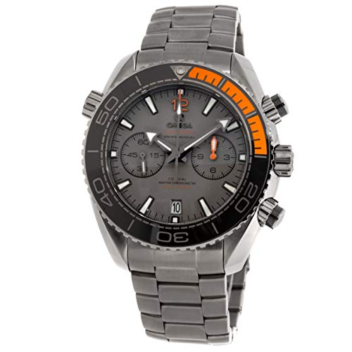 Omega Titanium Bracelet - Omega Seamaster Mechanical (Automatic) Grey/Charcoal Dial Mens Watch 215.90.46.51.99.001 (Certified Pre-Owned)