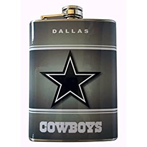 Dallas Cowboys Classic Logo Stainless Steel 8oz Flask