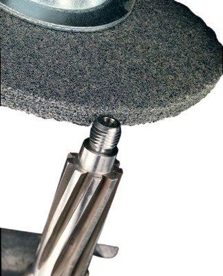3M Scotch-Brite XL-UW Unitized Silicon Carbide Soft Deburring Wheel - Fine Grade - Arbor Attachment - 8 in Diameter - 3/4 in Center Hole - 1/2 in Thickness - 15824 [PRICE is per WHEEL] by 3M