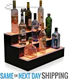 "24"" 3 TIER, LED LIGHTED BOTTLE DISPLAY, HOME BACK BAR SHELVES"
