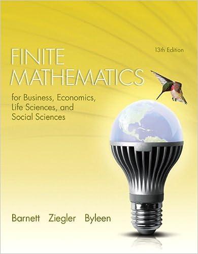 Finite Mathematics For Business, Economics, Life Sciences, And Social Sciences (13th Edition) Ebook Rar