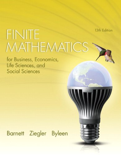 Finite Mathematics for Business, Economics, Life Sciences, and Social Sciences (13th Edition)