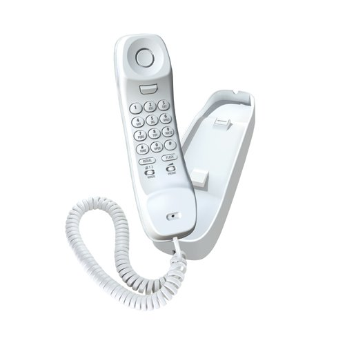 Uniden Slim1100 Slimline Corded Phone, white, one phone
