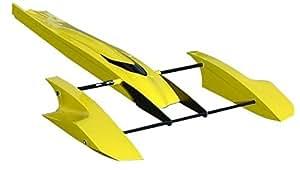 Tobsd 33 Inch Yellow Poseidon Fibreglass Outrigger Rc Boat ...