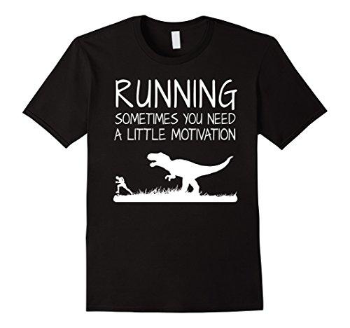 Men's Running Motivation Funny Trex Shirt Dinosaur Tee fo...