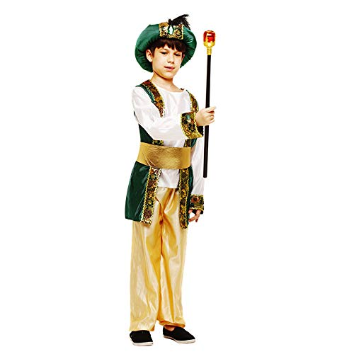 Children's Green Arab Prince Costume Egypt King