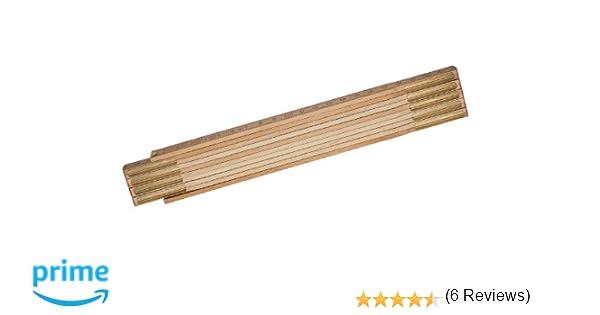 STANLEY 0-35-455 - Metro plegable de madera 2m