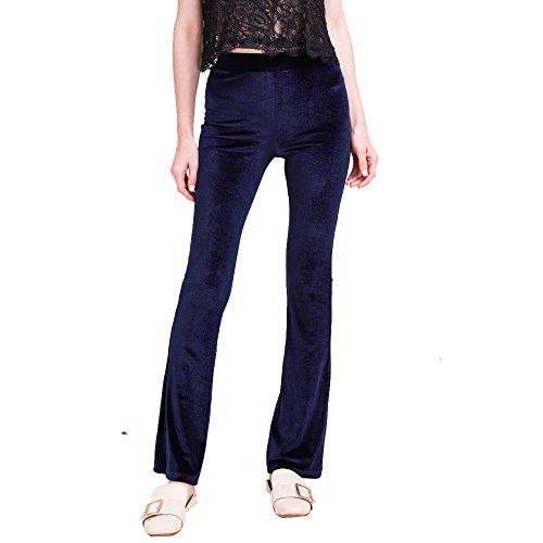 BELLA PHILOSOPHY Women Autumn Winter New Velvet Slim Flare Pants Trousers High Street (Pant Flare Slim)