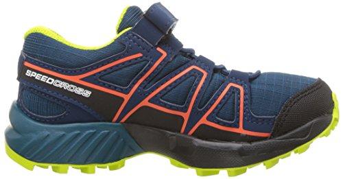 Salomon Speedcross CSWP K, Zapatillas de Trail Running Unisex Niños Azul (Moroccan Blue/Poseidon/Scarlet Ibis 000)