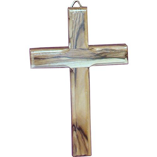 (Zuluf Small Wall Hanging Wood Cross 12cm Olive Wood Wall Cross From Bethlehem -)